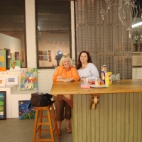 Allison and I ready to open the new studio-2009