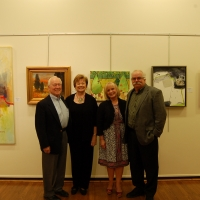 With Barb Chenault at Middletown Art Center show-2011