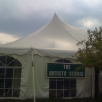 Tent for the Artists Studio at the Flower Show-2010