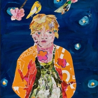 """Stella by Starlight-available for commissions accepted for the self portrait show at Tall Grass Arts Association Lake Forest, IL """"Identity Interpreted & Assumed: Self Portrait"""""""