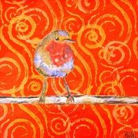 5x5 bird orange