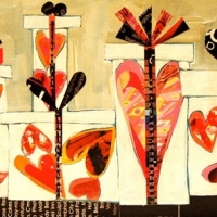 Gifts of Love-small size-12x24-available at Pendleton Art Center