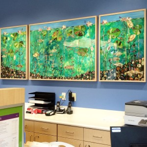"""""""Beneath the Surface"""" mural in B-1 Radiology"""